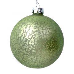 Antiqued Matt Green Glass Ball