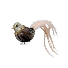 Bird Clip with Feathers