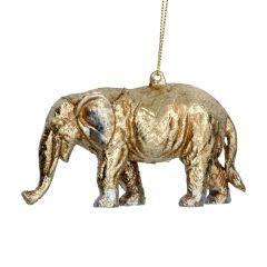 Gold Acrylic Elephant Decoration
