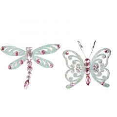 Acrylic Insect Clip - Pink Diamante