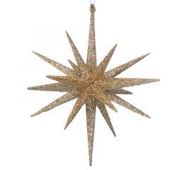 BETHLEHEM STAR GOLD GLITTER