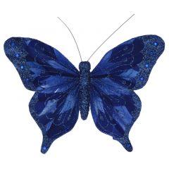 Blue Butterfly Clip