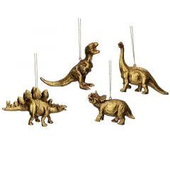 Gold Resin Dinosaur