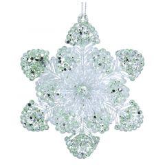 Acrylic Snowflake - Pale Green/Iridescent Decoration