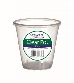 Stewart Garden 11cm Clear Pots - Clear
