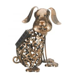 Solar Powered Metal Silhouette Dog - Smart Solar