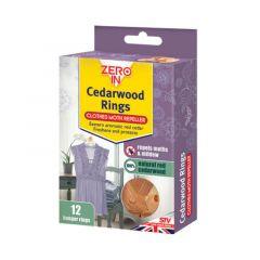 Zero In Cedarwood Clothes Moth Repeller Rings