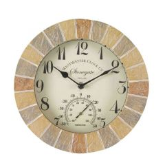 "Stonegate Wall Clock&therm 10"" - GC-SMARTSOLAR"