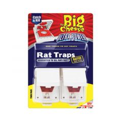 The Big Cheese Ultra Power Rat Traps - Twinpack