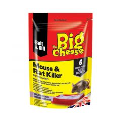 The Big Cheese Mouse & Rat Killer No Spill Sachets