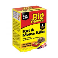 The Big Cheese Rat & Mouse Killer - Bait Packs (5 x 40g)