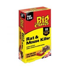 The Big Cheese Rat & Mouse Killer - Bait Packs (10 x 40g)