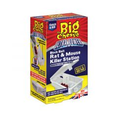 The Big Cheese Ultra Power Block Bait Rat & Mouse Killer Station