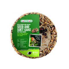 Gardman Mealworm and Raisin Seed  and Suet Cake