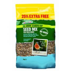 Gardman No Grow Seed Mix 2kg + 25% Extra Free