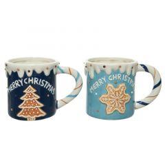 Blue Mugs Gingerbread Star/Tree - Kaemingk