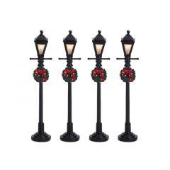 Gas Lantern Street Lamp 4pk - XM-LEMAX