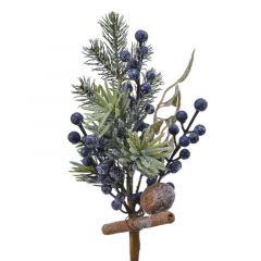 Blue/Pine Spray 31cm - Kaemingk
