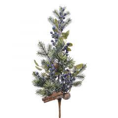 Blue/Pine Spray 70cm - Kaemingk