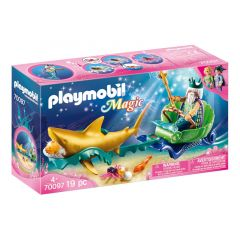 Magic: King Of The Sea With Shark Carriage - Playmobil