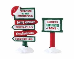 Lemax North Pole Signs Set Of 2