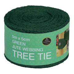 Garland 5m x 5cm Green Jute Webbing Tree Tie (Loose)