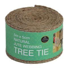 Garland 5m x 5cm Natural Jute Webbing Tree Tie (Loose)