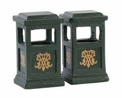 Lemax Green Trash Cans Set Of 2