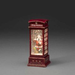 Konstsmide Water Lantern Red Telephone Box  With Timer
