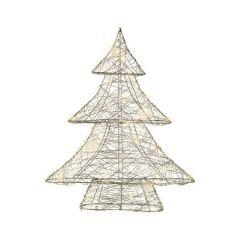 Kaemingk Wire Tree With 30 Warm White Micro LED -  8cm x 33cm x 40cm