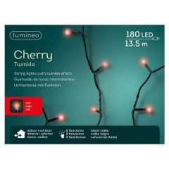 180 LED Red Cherry String Lights With Twinkle Effect - 13.5M