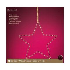 Kaemingk Micro LED Star With Rope Warm White 35L - 38cm x 38cm