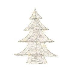 Kaemingk Micro LED Wire Tree Warm White 60L - 11cm x 48cm x 60cm