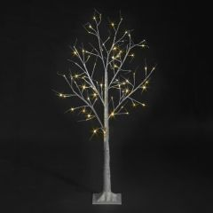 Birch Tree With 48 Warm White LEDs - 1.2m