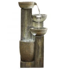 Kelkay Ash Columns Water Feature Including LEDs
