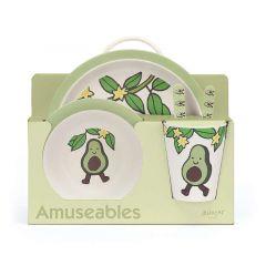 Jellycat Amuseables Avocado Bamboo Dinner Set
