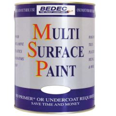 Bedec Multi Surface Paint Soft Satin Silver 750ml