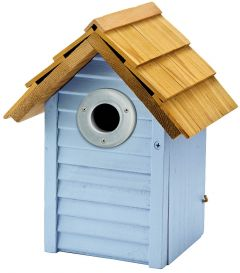 Gardman Beach Hut Nest Box - Blue