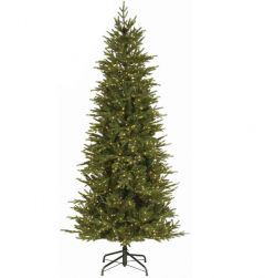 National Tree 7 1/2ft Bedminster Spruce Slim Pre-Lit Tree