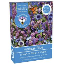 Bee Friends Vintage Blue Seed Shaker 15g