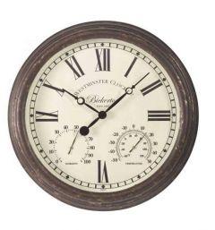 "Bickerton Wall Clock & Thermometer 15"""