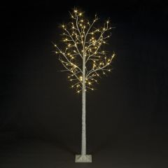 Birch Tree With 136 Warm White LEDs - 2.4M