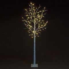 Birch Tree With 80 Warm White LEDs - 1.8M