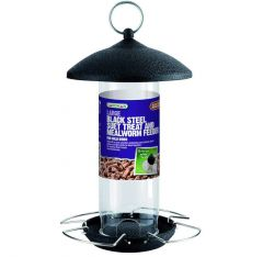 Gardman Black Steel Suet Treat & Mealworm Feeder