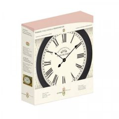 "Biarritz Wall Clocks (Black and Grey) 12"" - Smart Garden"