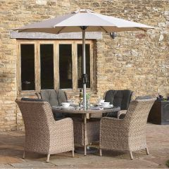Blenheim 4 Seater Round Table Set - Bramblecrest