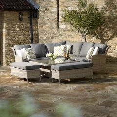 Blenheim Modular Sofa Set W Square Adj Table & 2 Benches