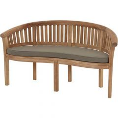Bramblecrest Banana Bench Cushion - Taupe