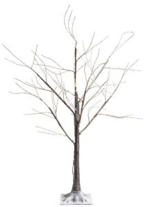 Brown Birch Tree with 400 Warm White Micro LEDs - 150CM