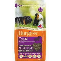 Excel Burgess Guinea Pig Nuggets Blackcurrant and Oregano 2 kg